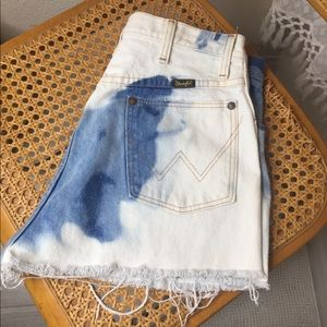 bleached wrangler cutoff shorts